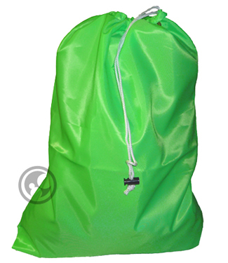 Large Nylon Laundry Bag, Fluorescent Lime Green