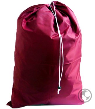 Extra Large Nylon Laundry Bag, Burgundy