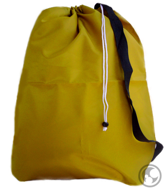 Large Laundry Bag with Strap, Gold