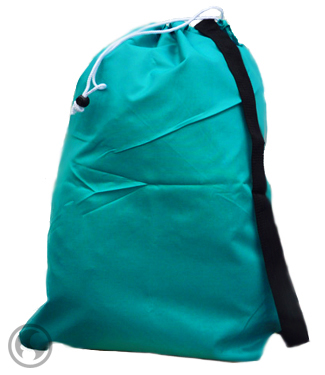 Laundry Bag Teal Strapped